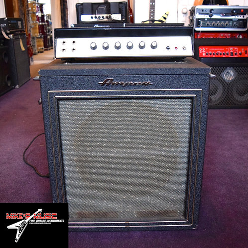 Circa 1967 Ampeg BT-15 with rare extension cabinet
