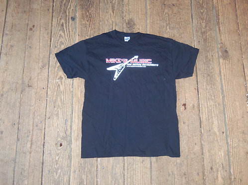 Mike's Music Flying V Tee Black