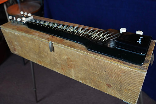 1950s Harmony Lap/Table Steel Guitar with amp in case