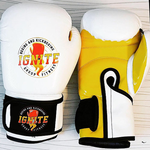 IGNITEBK White & Yellow Boxing Glove