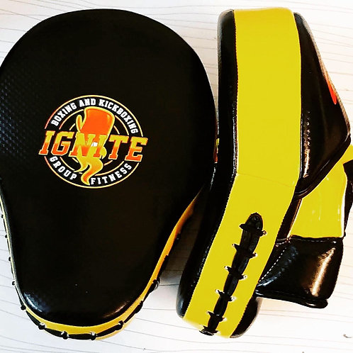 IGNITEBK Black and Yellow Boxing Mitts