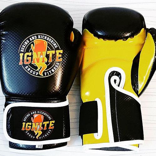 IGNITEBK Black & Yellow Boxing Gloves