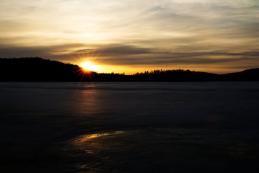 Sunrise over Good Lake