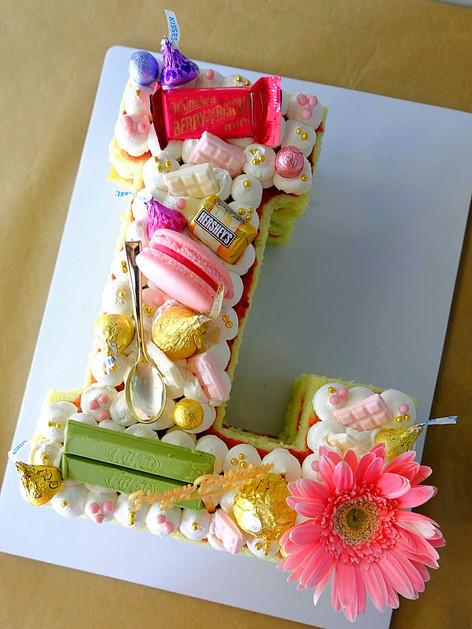 L Letter Cake