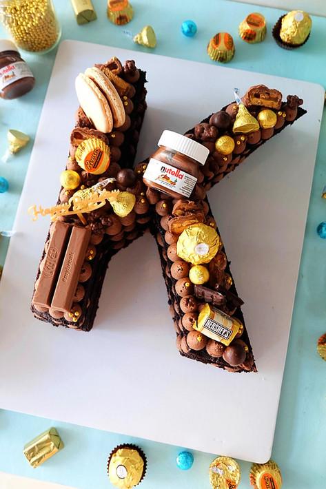 K Letter Cake