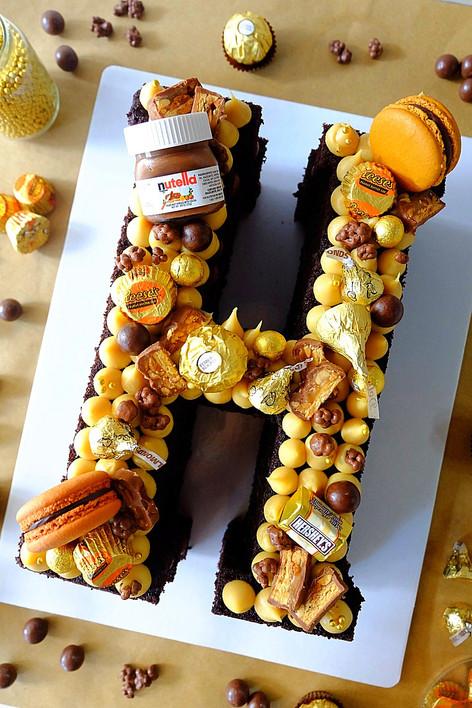 H Letter Cake