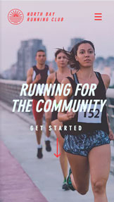 健康&フィットネス website templates – Running Group