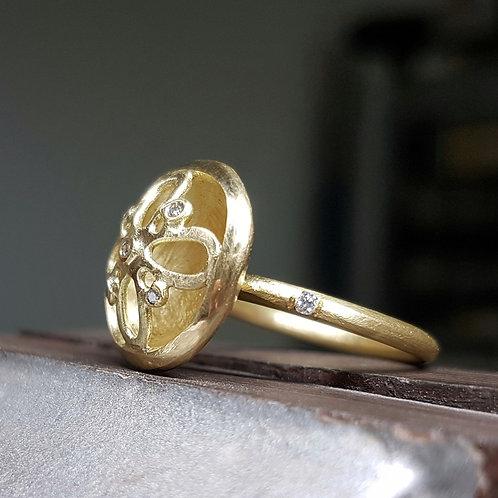 Floréo טבעת זהב ויהלומים