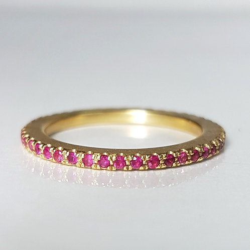 Thin Ruby Eternity Band