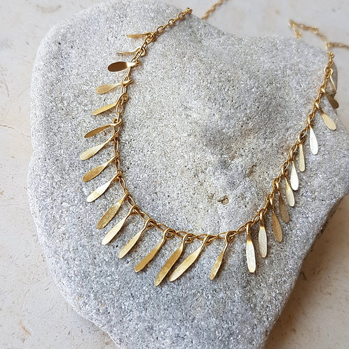 Spike Necklace in 18k Gold