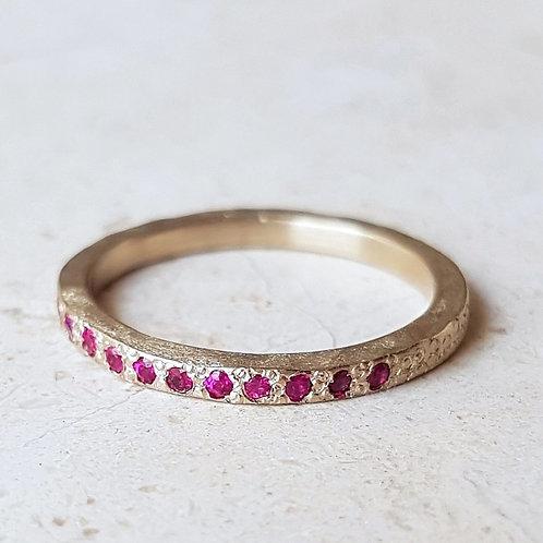 טבעת רובי בזהב לבן