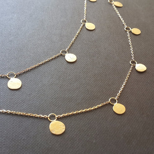 Sequin Necklace in 18k Gold