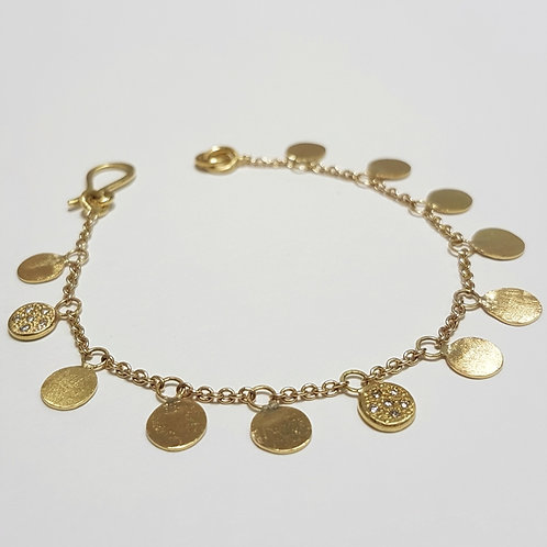 Gold Sequin Bracelet