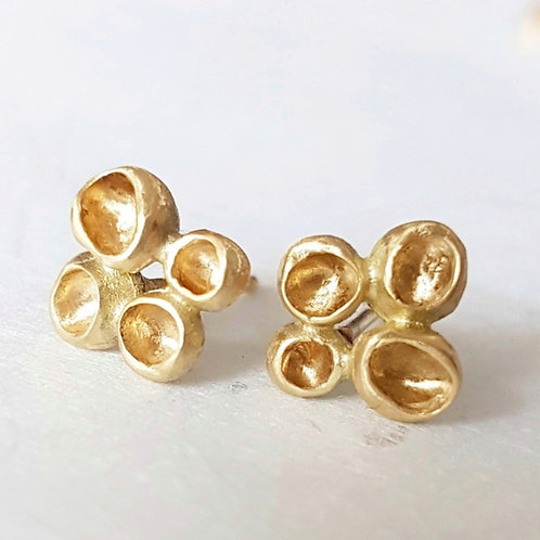Podlet Studs in 18k Gold
