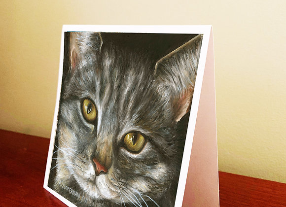 """5.5"""" x 5.5"""" Cat Greeting Card With Envelope"""