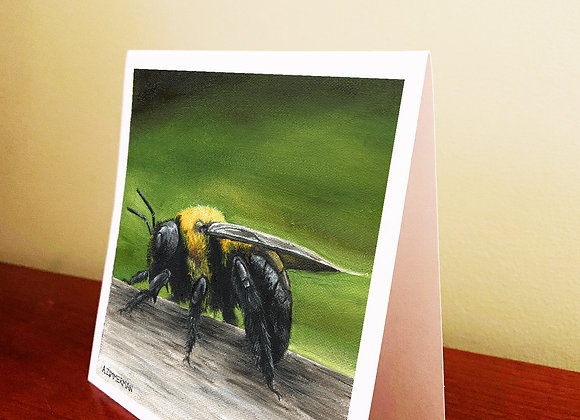 """5.5"""" x 5.5"""" Bee Greeting Card With Envelope"""