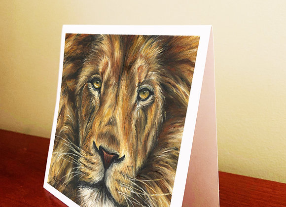 """5.5"""" x 5.5"""" Lion Greeting Card With Envelope"""