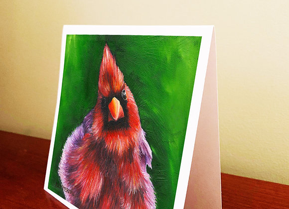 "5.5"" x 5.5"" Cardinal Greeting Card With Envelope"