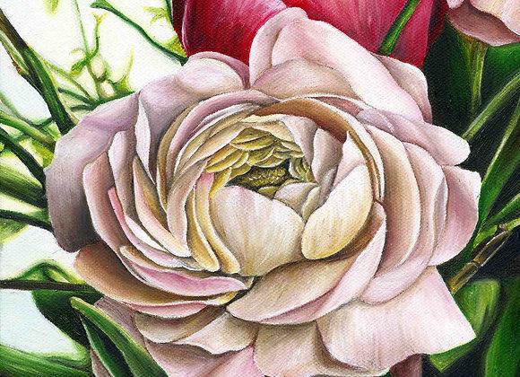 "8""x8"" Pink Rose Giclee Print"
