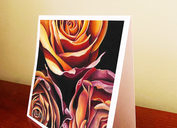 """5.5"""" x 5.5"""" Roses Greeting Card With Envelope"""