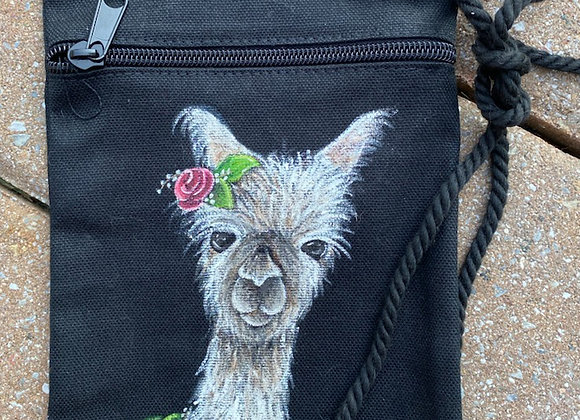 Lucia Hand painted satchel bag