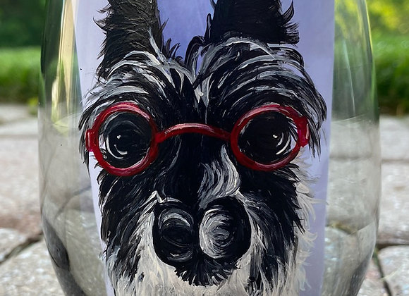 Rozzie Hand Painted Wine Glass