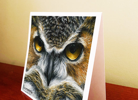 "5.5"" x 5.5"" Owl Greeting Card With Envelope"
