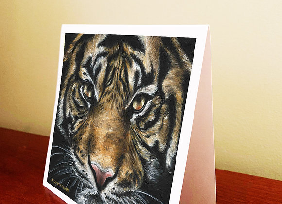 "5.5"" x 5.5"" Tiger Greeting Card With Envelope"