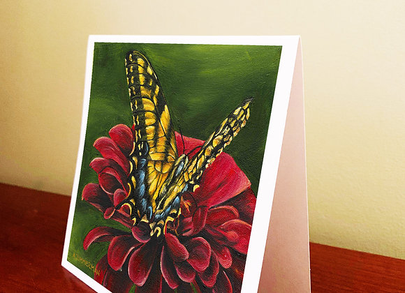 "5.5"" x 5.5"" Butterfly Greeting Card With Envelope"