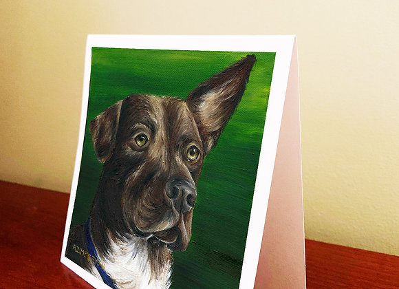 "5.5"" x 5.5"" Dog Greeting Card With Envelope"