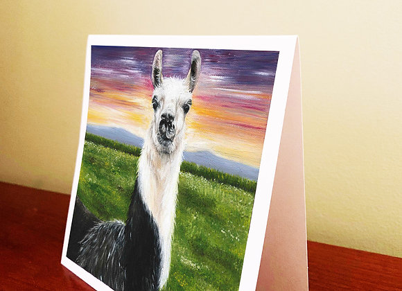 "5.5"" x 5.5"" Llama Greeting Card With Envelope"