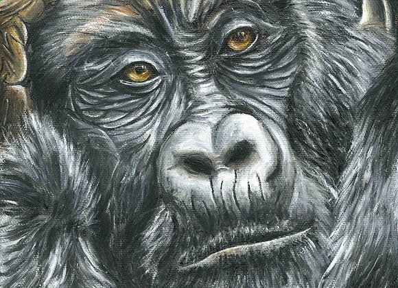 "8""X8"" Original Ape Oil Painting"