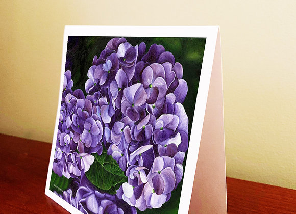 "5.5"" x 5.5"" Hydrangea Greeting Card With Envelope"