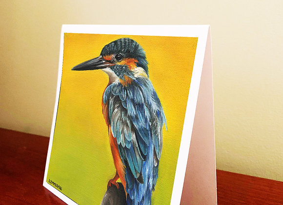 "5.5"" x 5.5"" King Fisher Bird Greeting Card With Envelope"
