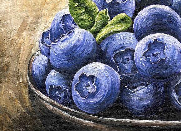"8""X8""Original Blueberry Painting"