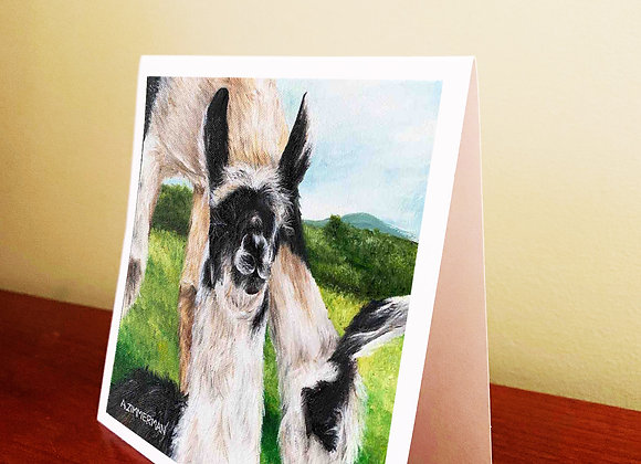 "5.5"" x 5.5"" Baby Llama Greeting Card With Envelope"