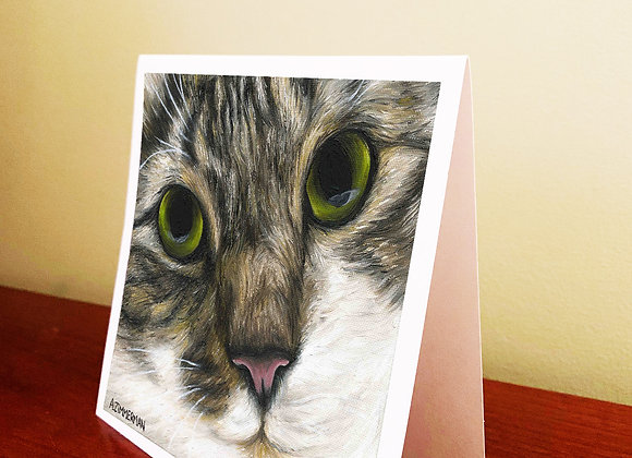 "5.5"" x 5.5"" Cat Greeting Card With Envelope"