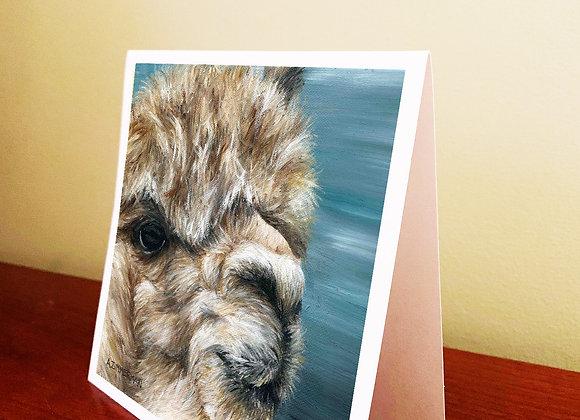 "5.5"" x 5.5"" Alpaca Greeting Card With Envelope"