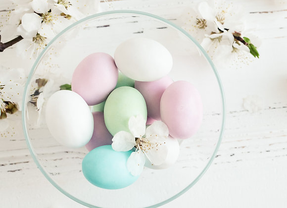Custom Hand Painted Wood Egg
