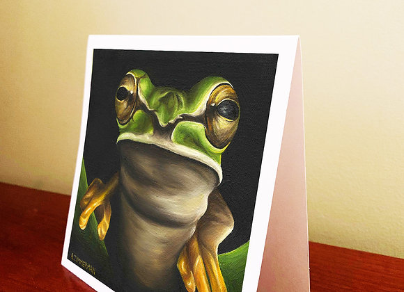 "5.5"" x 5.5"" Frog Greeting Card With Envelope"