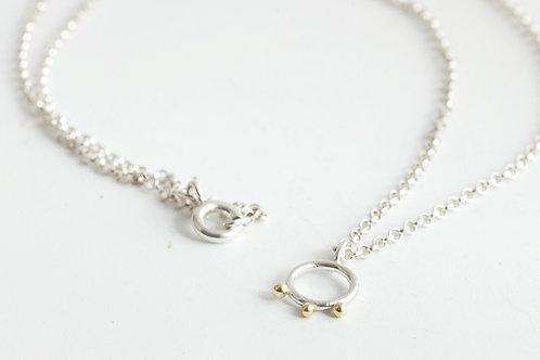 Tiny Silver Circle necklace