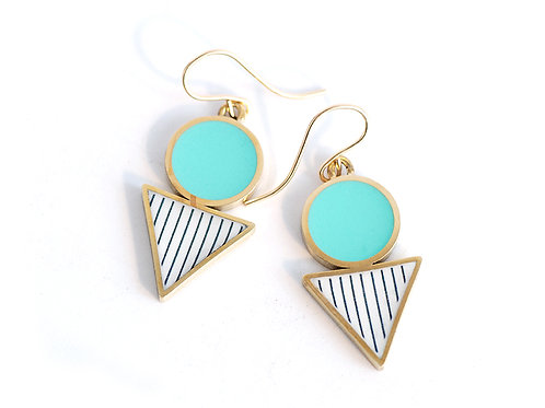 Turquoise Geometric 'Shapes' Drop earrings