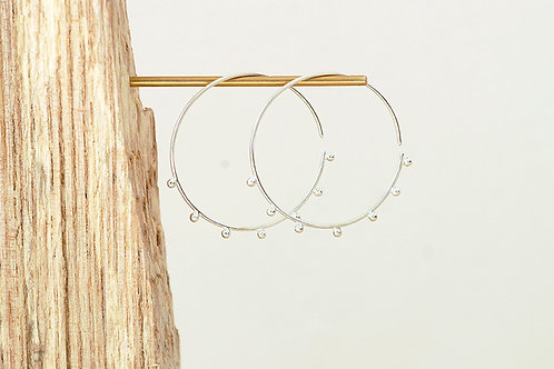Large Dot Hoops