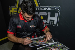 James Hillier signing photos