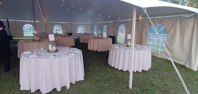 Round Tables Under White Tent