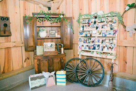 Wagon Wheels in Barn Venue