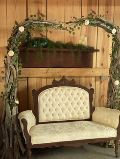 Arbor Over Vintage Couch