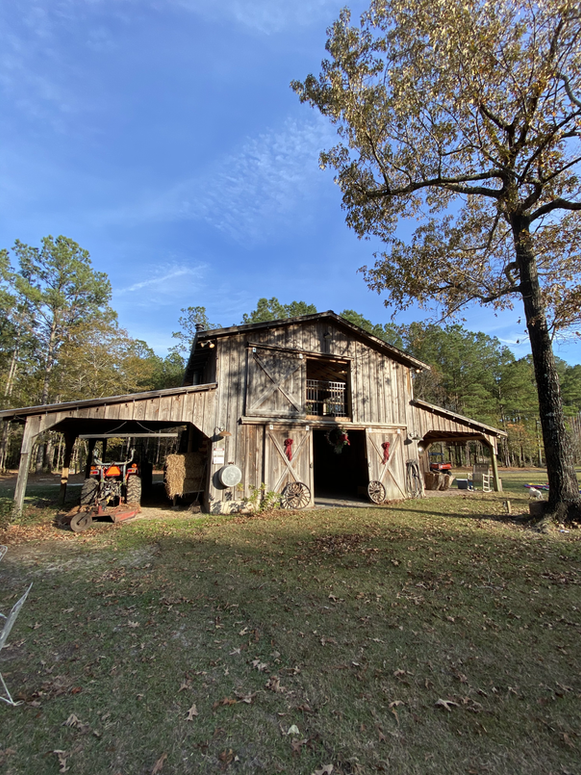 picture of the barn during fall