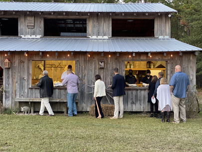 Smithfeilds Catering at West Prong Acres Timber Framed Barn