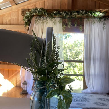 Arbor Decorated for Wedding